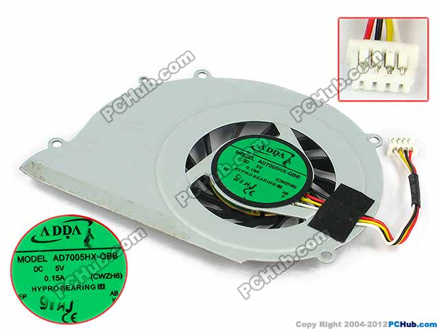 "DC 5V 0.15A, Bare Fan ""NEW"""