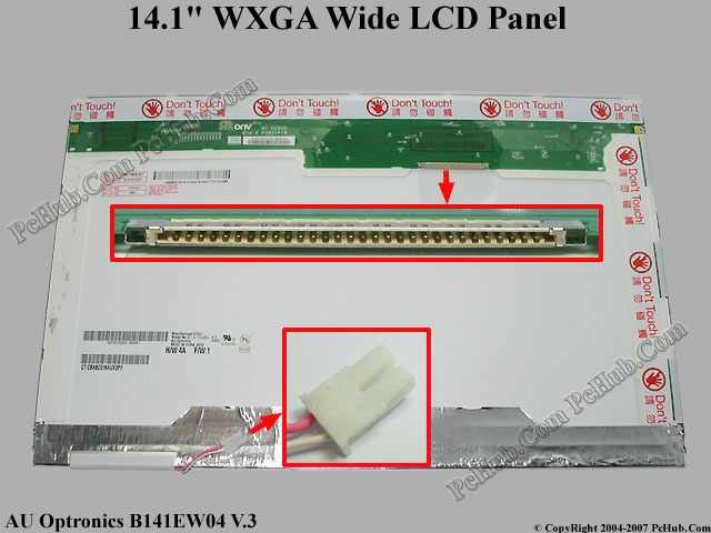 "14.1"" WXGA Wide LCD Display Screen"