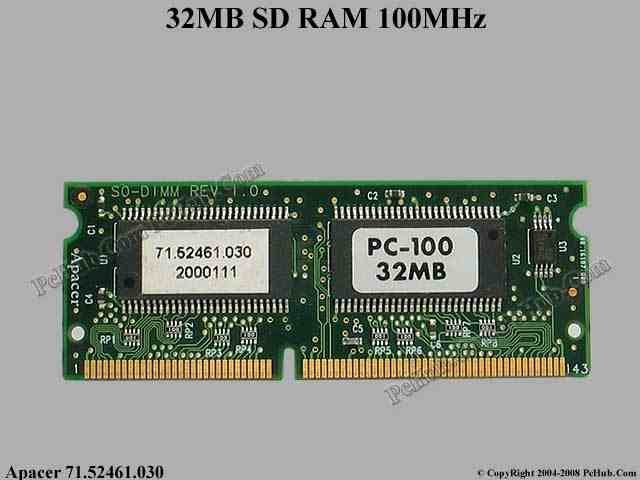 32MB 144pin PC100 SDRAM SODIMM