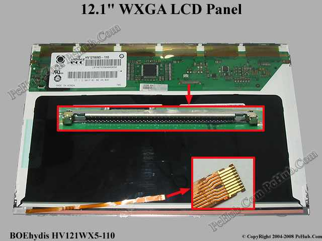 "12.1"" WXGA (LED) LCD Display Screen"