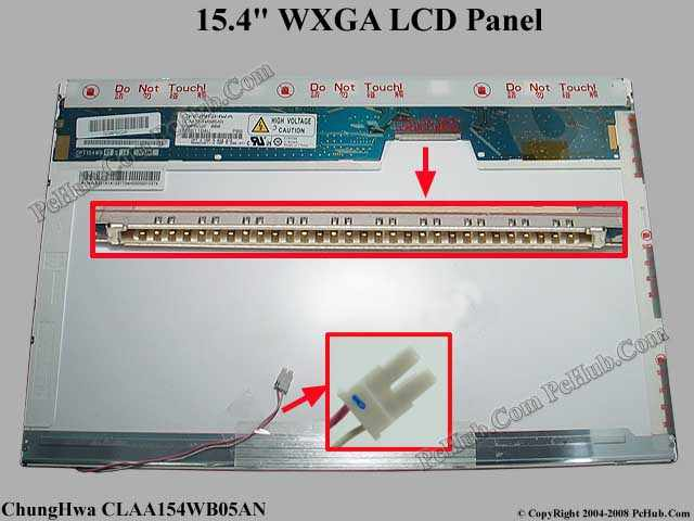 "15.4"" WXGA LCD Display Screen"