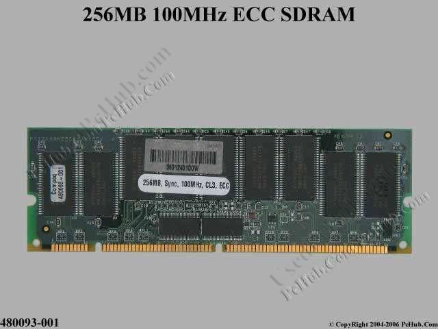256MB PC100 ECC SDRAM
