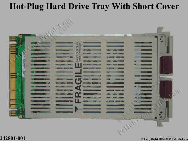 Hot-plug hard drive tray kit with Short Cover