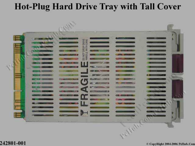 Hot-plug hard drive tray kit with Tall Cover