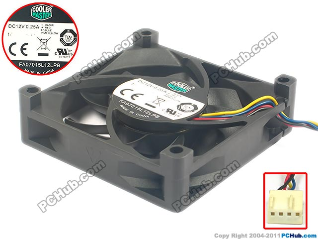 CoolerMaster FA07015L12LPB Server Square Fan