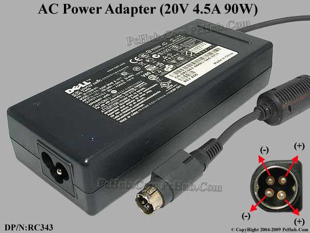 20V 4.5A 90W, 4-Pin DIN, 3-Prong