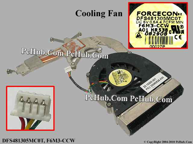 DC 5V 0.5A fan with heatsink, 20.10200.001, HR538