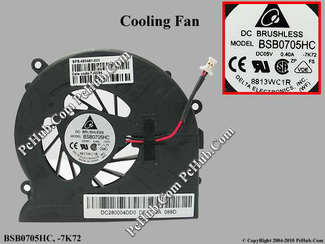 DC 5V 0.40A bare fan