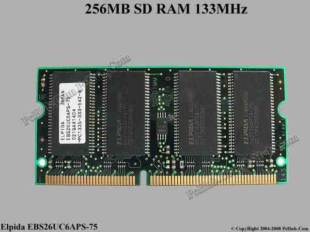 256MB PC133 144-pin SDRAM SODIMM