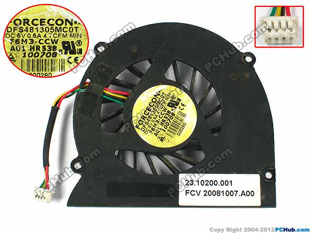 DC5V 0.5A bare fan, HR538, MM911