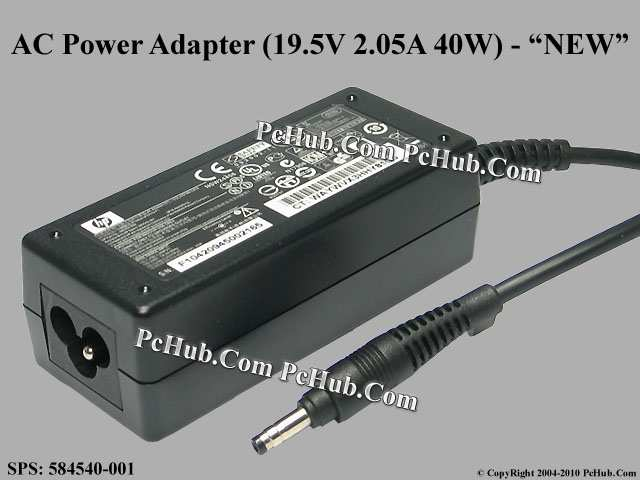 19.5V 2.05A 40W, Round Barrel (1.7/4.0mm), 3-prong