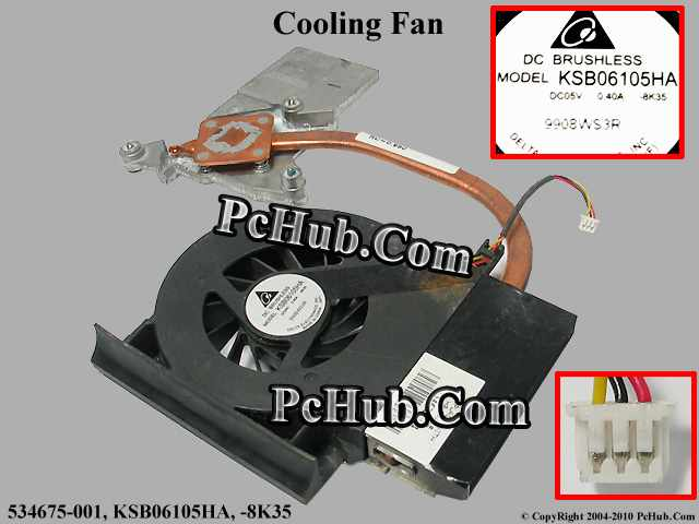 DC 5V 0.40A, 1 air outlet, 534676-001