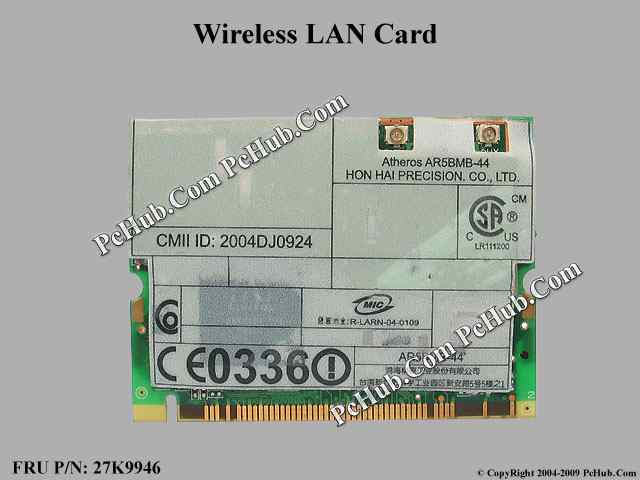 11a/b/g Wireless LAN Mini PCI Adapter II, EU