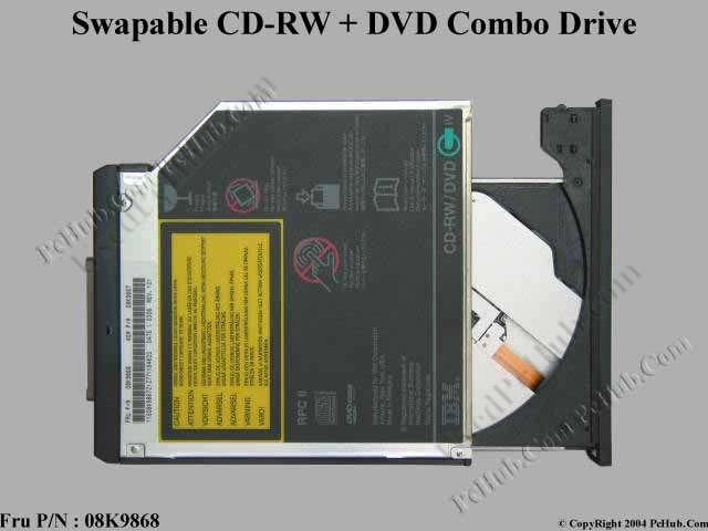 Swapable DVD-ROM/CD-RW Combo Drive
