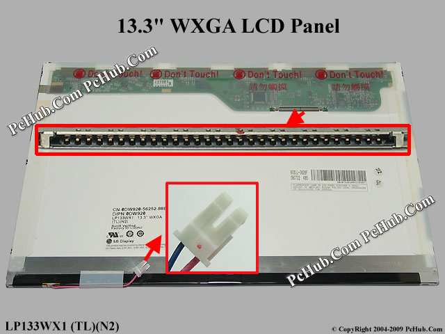 "13.3"" WXGA LCD Display Screen"