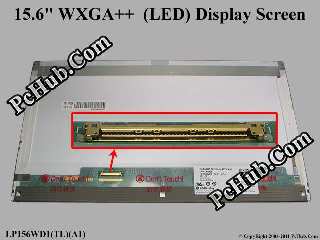 "15.6"" WXGA++ HD+ LED LCD Display Screen"