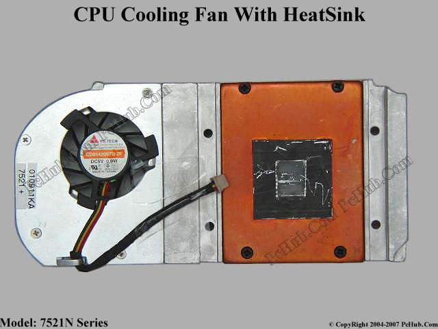CPU Fan With Heat Sink, DC5V 0.9W