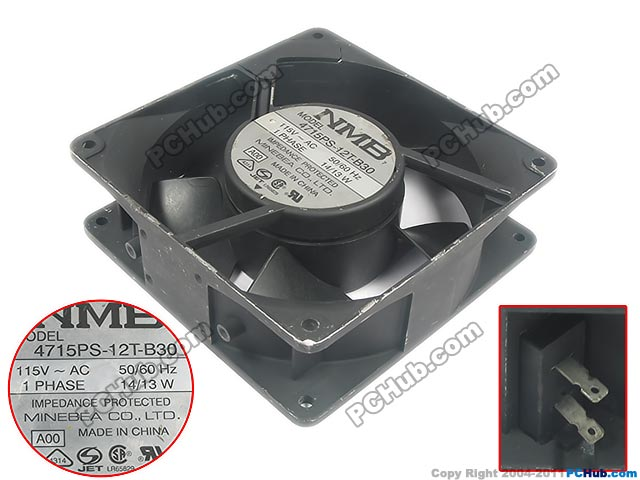AC 115V 14W, 120x120x38mm