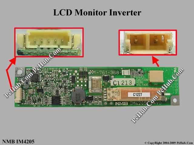NMB IM4205 LCD Monitor / TV Inverter LCD Inverter.