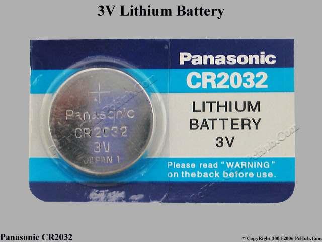 Panasonic Cr2032 Battery Cmos Resume Rtc Cr2032