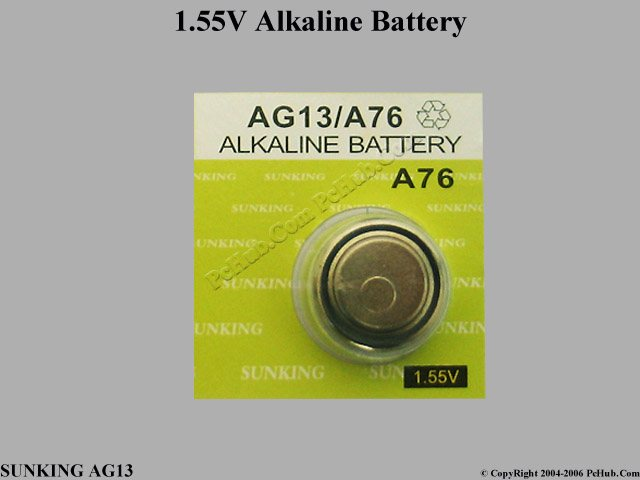 1.55V Alkaline Battery (Non-Rechargeable)