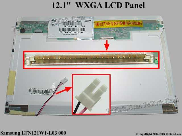 "12.1"" WXGA LCD Display Screen"