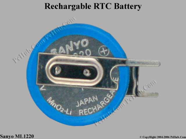New Rechargable 3V Battery with 2-pin