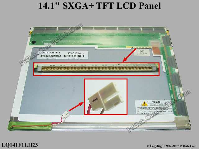 "14.1"" SXGA+ TFT LCD Display Screen"