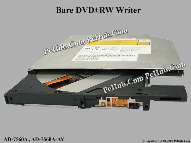 HP Sony Ad-7560a IDE ATA 8x Dvd rw DL Notebook Drive 12mm