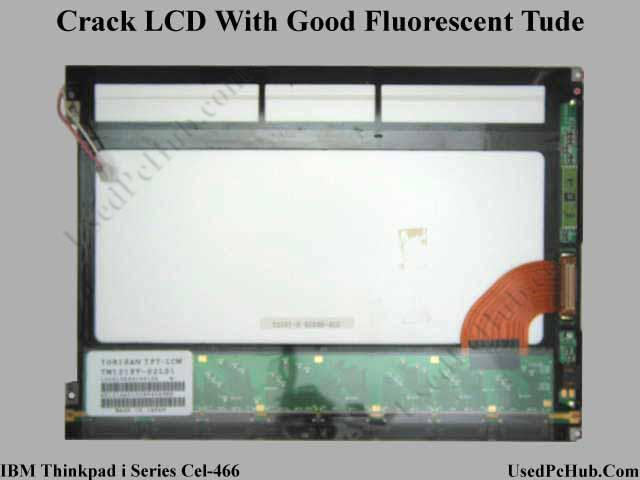 Cracked LCD Display Screen - Good Fluorescent Tube