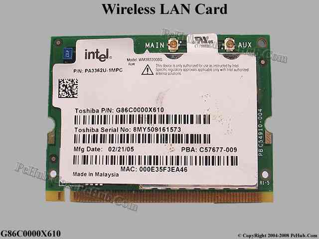 toshiba wireless lan mini pci card driver