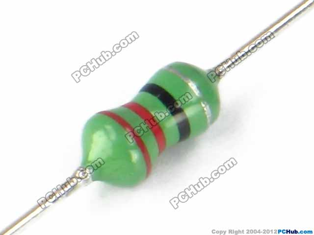 Color ring inductor. 1/4W