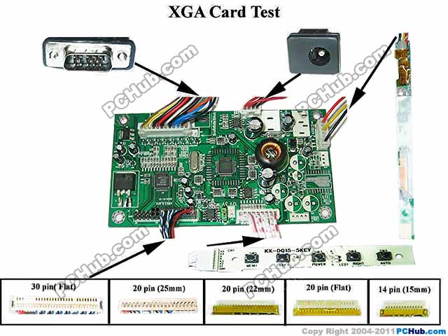 For testing most of  XGA LCD Panel
